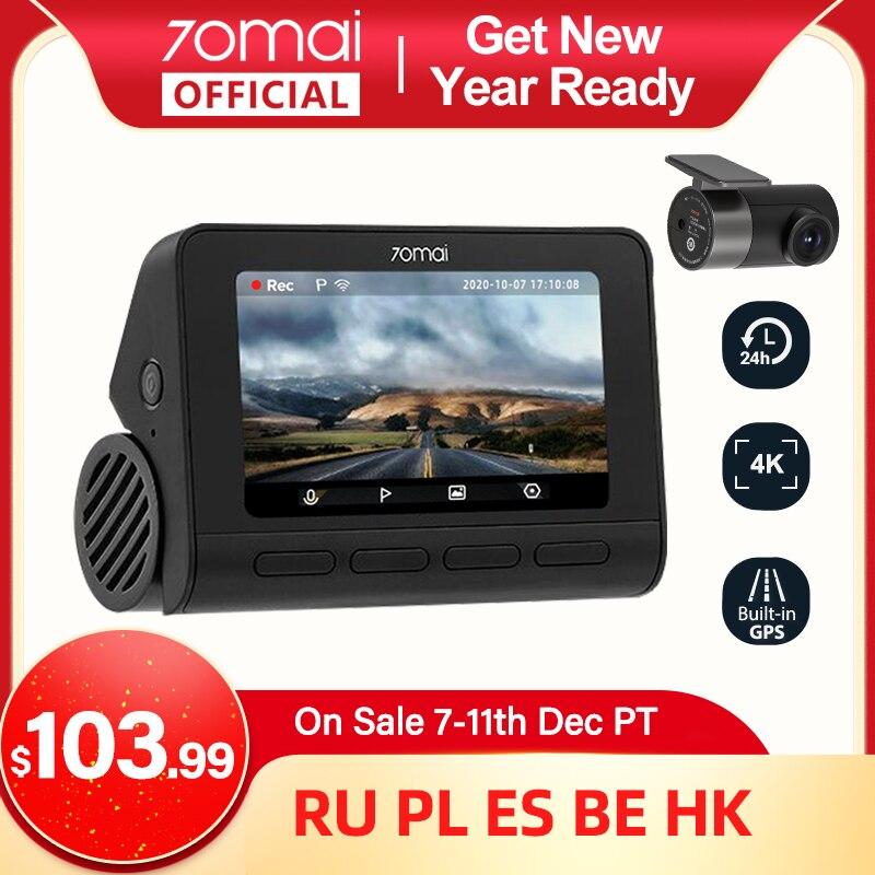 70mai Dash Cam 4K A800 Built-in GPS ADAS 70mai Real 4K Car DVR UHD Cinema-quality Image 24H Parking SONY IMX415 140FOV